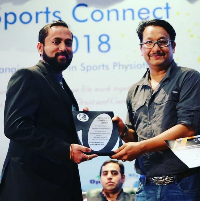 Awarded with Youth icon at Sports Connect 2018 on 18th February 2018