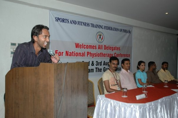 Presented himself for the first at National Physiotherapy Conference organised by Sports and Fitness Training Federation of India at Neelam's the Grand, Goa on 2nd and 3rd August 2009.
